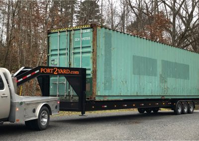 shipping container trailer with 40' high cube